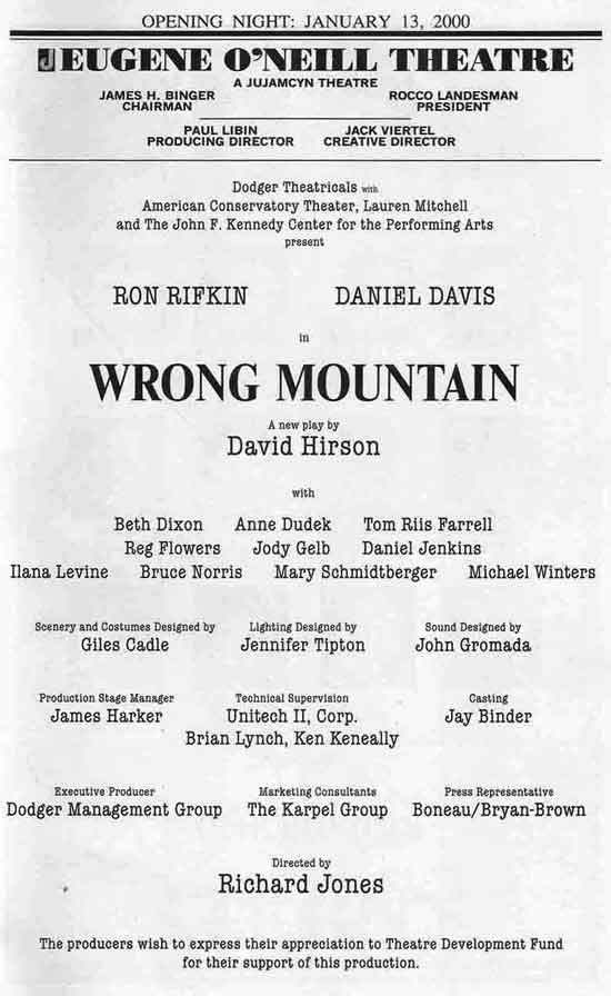 Wrong Mountain Cast